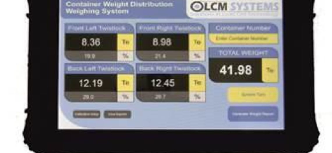 Golden lotus-LCM Systems Release New SOLAS Compliant Container Weighing System