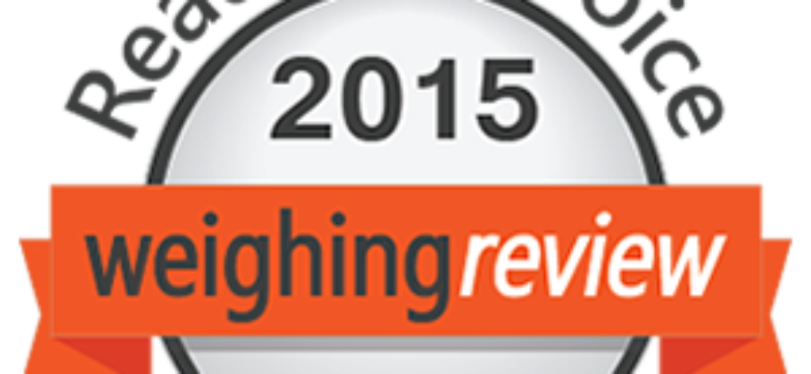 Welcome to the Weighing Review Awards 2015