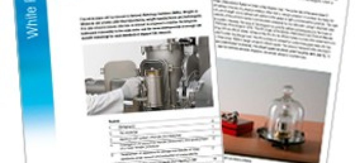 Mettler Toledo's New andrew d. white Paper Presents the Latest Developments in high mass Transfer and Storage to Support Redefinition of the Kilogram for 2018