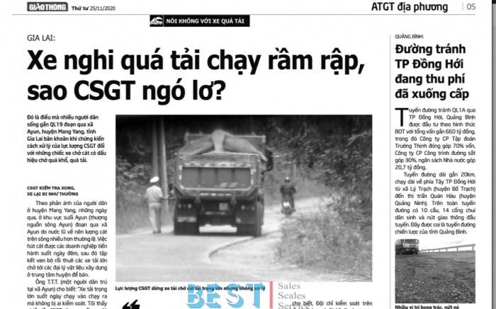 """[ATGT] Vụ """"CSGT ngó lơ xe quá tải ở Mang Yang"""", tỉnh Gia Lai chỉ đạo làm rõ"""